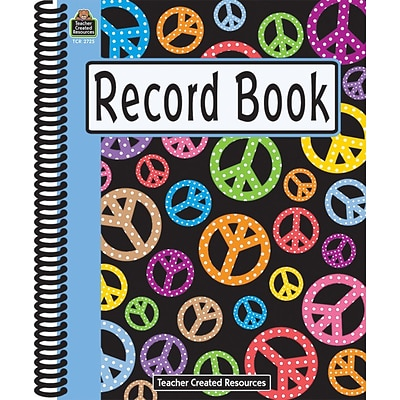Teacher Created Resources Record Book, Peace Signs