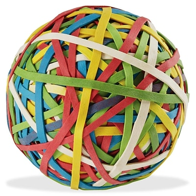 ACCO® Rubber Band Ball, 275 Bands Per Ball, Asst. Colors, Box, 3.25 x .125