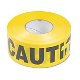 Tatco Caution Barricade Safety Tape, Yellow, 3 x 1,000 ft. Roll
