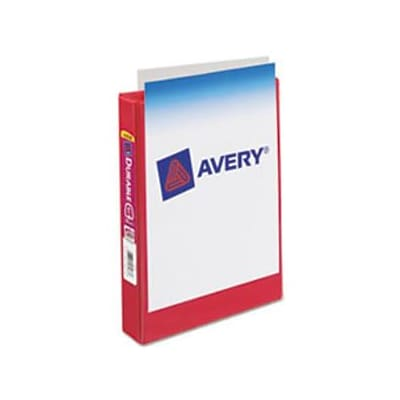 Avery® 5-1/2x8-1/2 Memo View Binder; 3-Ring, 1 Round; Red