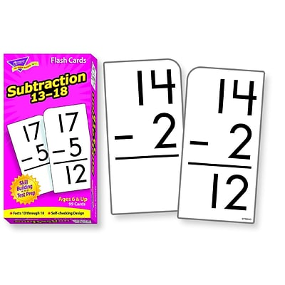 Flash Cards, Trend® Subtraction 13-18 Skill Drill Flash Cards