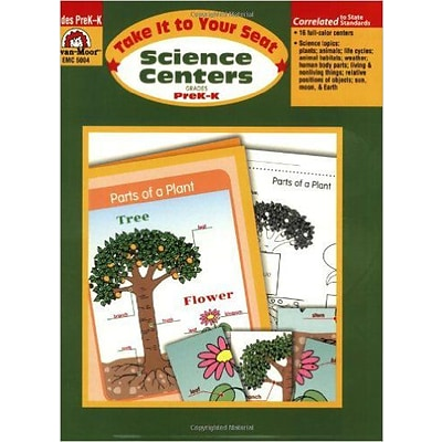 Evan-Moor® Take It To Your Seat Science Centers, GR: PreK-K
