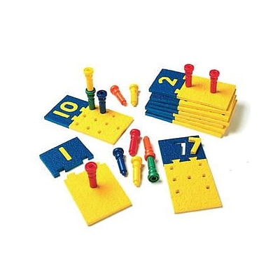 Counting & Sorting, Lauri® Toys Number Puzzle-Boards and Pegs
