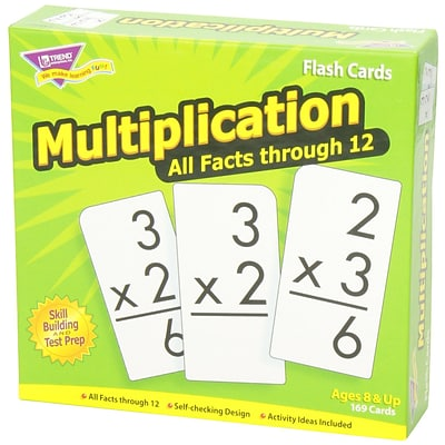 Flash Cards, Trend® Multiplication 0-12 Skill Drill Flash Cards, All Facts