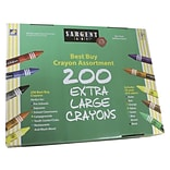 Sargent Art® Best Buy Crayons Value Packs; 200/Bx