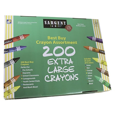 Sargent Art® Best Buy Value Pack Crayons, Extra Large, 200/Box