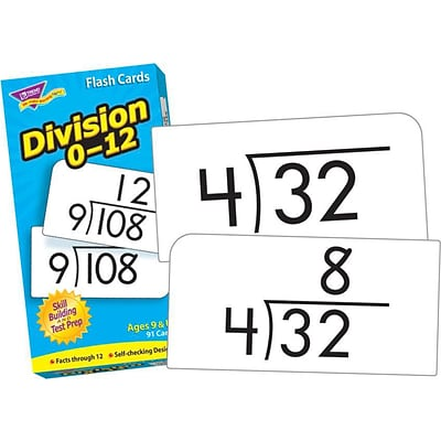 Flash Cards, Trend® Division 0-12 Skill Drill Flash Cards