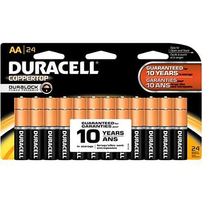 Duracell® Alkaline AA Batteries, 24-Pack