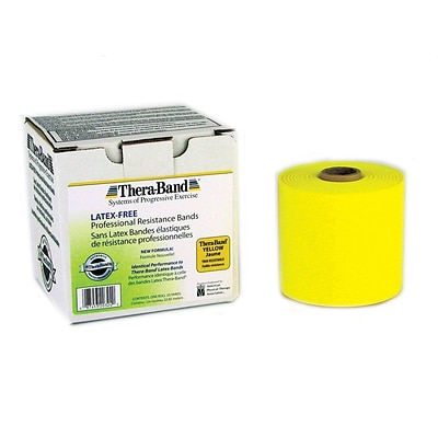 Thera-Band® Latex Free Exercise Bands 25 Yard Roll, Thin, Yellow
