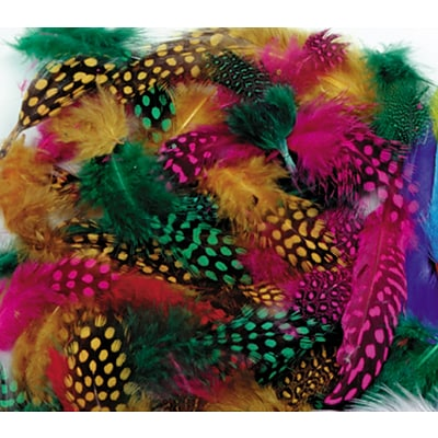 Chenille Kraft® Feathers, Spotted Feathers