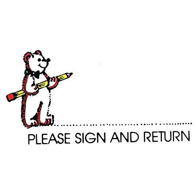 Please Sign Bear Sweet-Arts Artistic Rubber Stamp