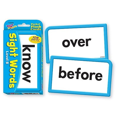 Sight Words – Level B Pocket Flash Cards for Grades 1-2, 56 Pack (T-23028)