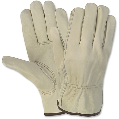 Memphis Gloves® Economy Leather Drivers Gloves, Large, Beige