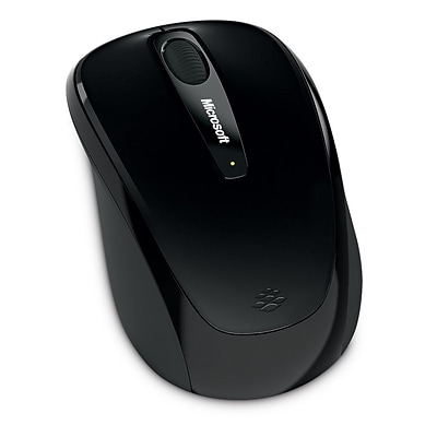 Microsoft® Wireless Mobile Mouse 3500, BlueTrack USB Wireless Mouse, Black (GMF-00030)