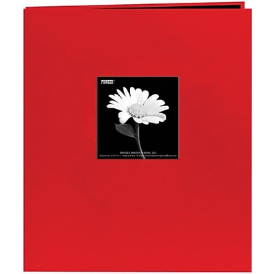 Pioneer Fabric Frame Scrapbook, 8.5 x 11, Red