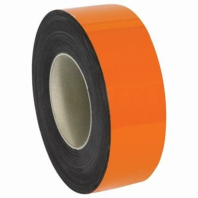 50 x 2 Warehouse Label Magnetic Roll, Orange (LH128)