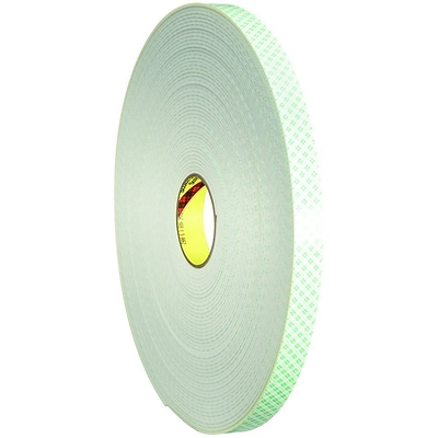 3M 4008 Double Sided Foam Tape, 1 x 5 yds., 1/8, 1/Pack