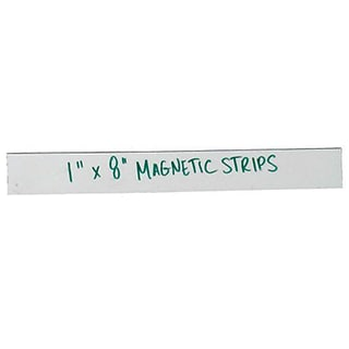 1x8 White Magnetic Strip Warehouse Label