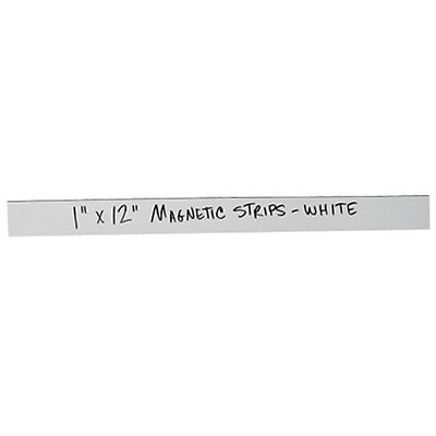 Magnetic Strip Warehouse White Label; 1 x 12, 25/Case