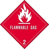 4x4 Flammable Gas - 2 Shipping Label