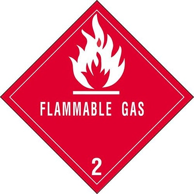 Tape Logic Flammable Gas - 2 Tape Logic Shipping Label, 4 x 4, 500/Roll