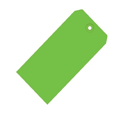 Green 13 Pt. Shipping Tag; 2 3/4 x 1 3/8, 1,000/Case