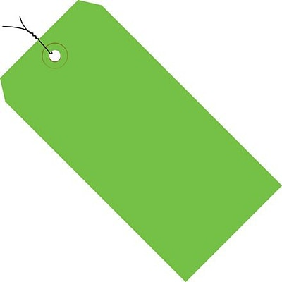 Staples Shipping Pre-Wired Tag, 13 Pt, 4 3/4 x 2 3/8, Green, 1000/Case (G11053D)