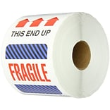 Tape Logic This End Up - Fragile Shipping Label, 4 x 6, 500/Roll