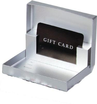 Shamrock Presentation Pop-Up Gift Card Box, Silver