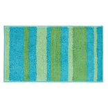 InterDesign® Stripz 34 x 21 Microfiber Polyester Bath Rug, Blue/Green
