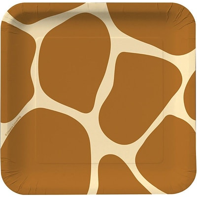 Creative Converting Giraffe 7 Square Luncheon Plates, 8/Pack