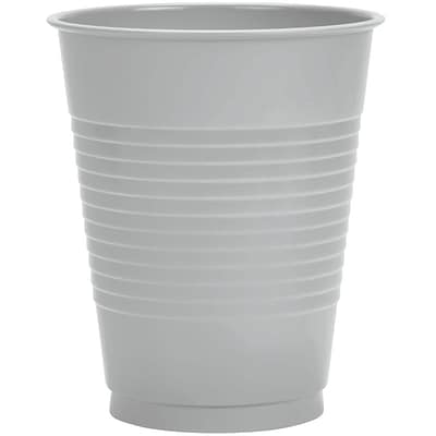 Creative Converting Shimmering Silver Cups, 20/Pack
