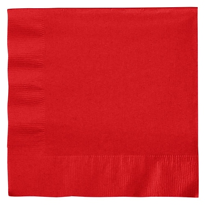 Creative Converting Classic Red 2-Ply Luncheon Napkins, 50/Pack