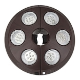 Swim Time™ 6 Light Rechargeable LED Umbrella Light, Bronze