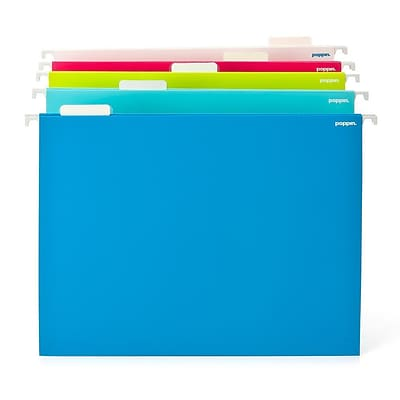 Poppin Hanging File Folders, Assorted Colors, 25/Pack