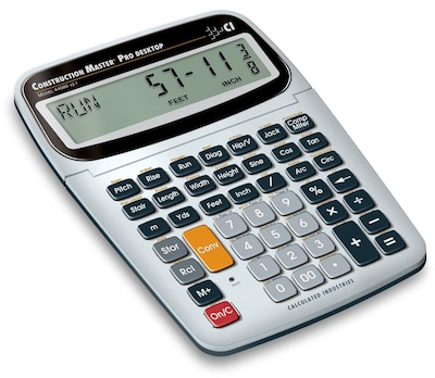 Calculated Industries Construction Master Pro Desktop Calculator with Large Multi Tilt Display LCD