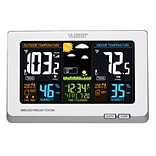 La Crosse Technology Wireless Atomic Digital Color Forecast Station with Alerts, White (308-1414W)
