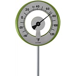 La Crosse Lollipop Outdoor Garden Thermometer, Green (101-1523)
