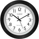 La Crosse 10 Analog Atomic Blk frame clock
