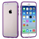 Insten® MyBumper Phone Protector Cover F/4.7 iPhone 6; Purple/Transparent Clear