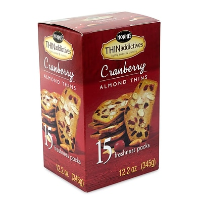 THINaddictives Cranberry Almond Thins, 15 CT