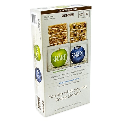 Detour Smart Oatmeal Bars Variety Pack, 14 CT