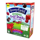Stonyfield Organic Fruit Snacks Variety Pack, 36 Pack