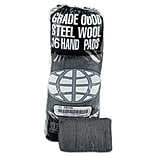 Global Material Steel Wool Hand Pad, Medium Coarse, #2, 12 sleeves per case