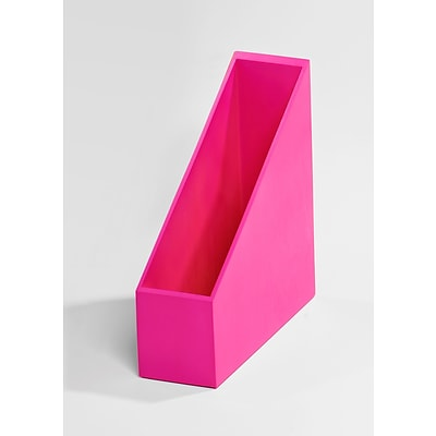 Bindertek Bright Wood Desk Organizing System Magazine File; Pink (BTMAG-PK)