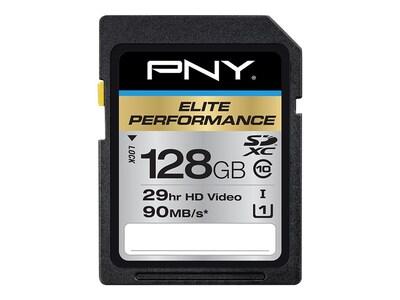 PNY Technologies PNY P-SDX128U395-GE Elite Performance Class 10 (UHS-I) 128GB SDXC Flash Memory Card | Quill (52147754 ZL9925) photo