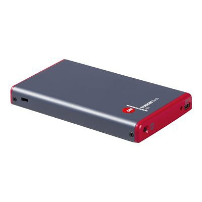 CRU ToughTech Secure m3 2.5 USB 3.0 External Drive Enclosure; Gray/Red (36280-1210-0000)