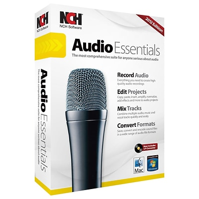 NCH Software® Audio Essentials - Audio Editing Software; Windows, CD-ROM (RET-AE001)