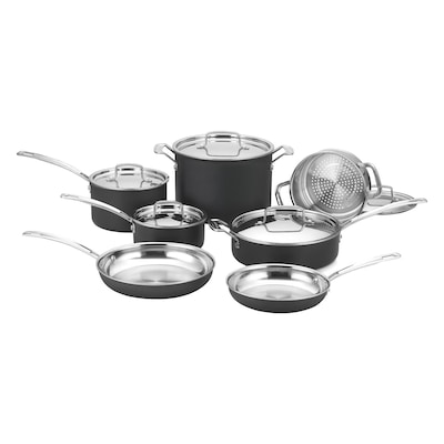 Cuisinart(r) Multiclad Unlimited(tm) Stainless Steel Cookware Set; 12 Piece, Silver (mcu 12n)