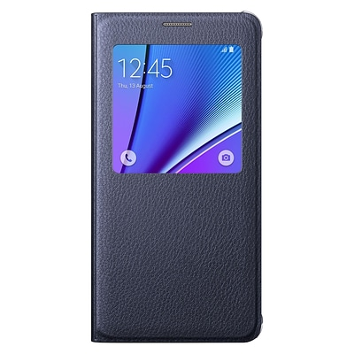 Samsung S-View Flip Cover for Galaxy Note 5; Black Sapphire (EF-CN920PBEGUS)